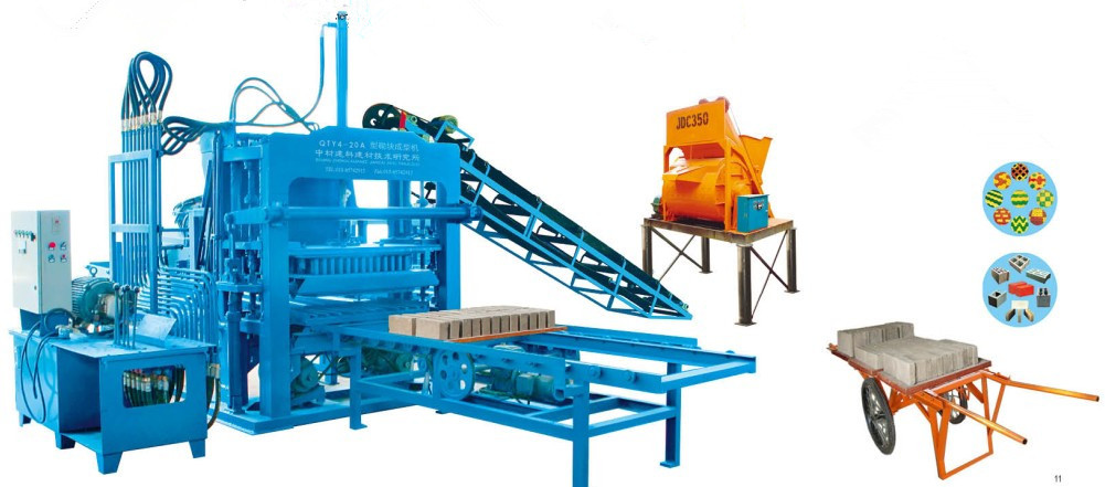 Brick machine ZCJK4-20A 11 +JDC350+MANUAL CART+BRICK SAMPLE produciton line