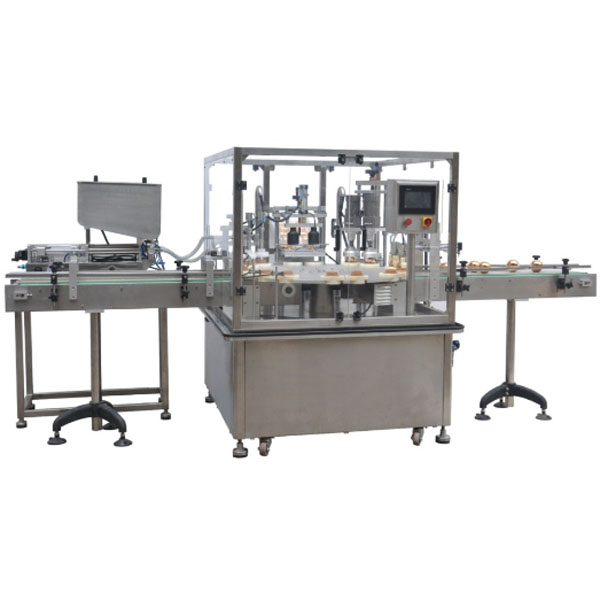 Cream filling capping machine