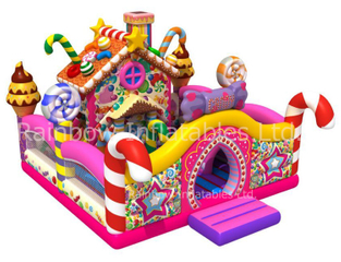 RB01050(8.5x7.5x5.5m) Inflatable Candy funcity colorful house bouncy inflatable castle