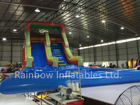 Giant Outdoor Inflatable High Water Slide with Pool for Sale