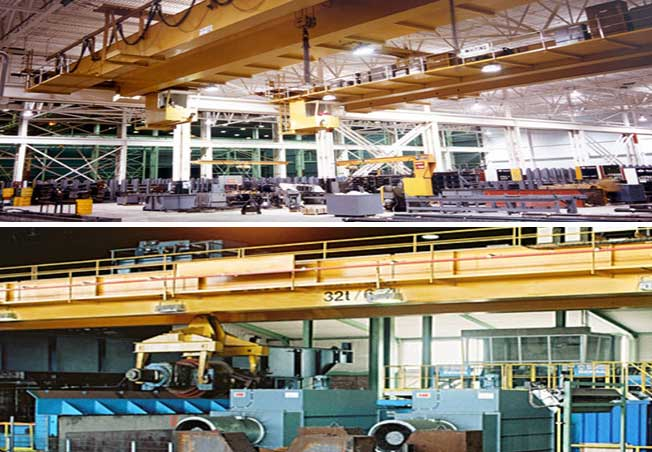 Double Girder Overhead Cranes For Metal Processing