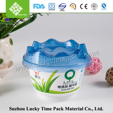 IML Personalized Printed Round Disposable Plastic Bowl with Lid