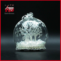 LED Glass Decoration Round Ball Home Decoration Glass Decoration Different Paper Desgins Inside