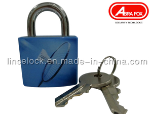 Padlock/ Aluminum Alloy Padlock with ABS Coating Asscorted Printed Design (620)
