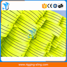 Polyester material webbing belt for lifting sling
