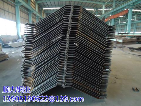 Larsen steel plate pile wall width per meter of moment of inertia