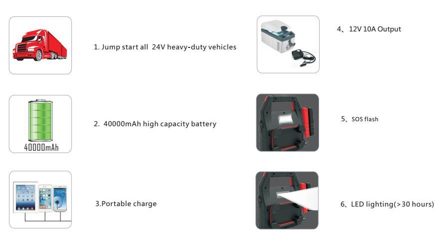 24V jump starter