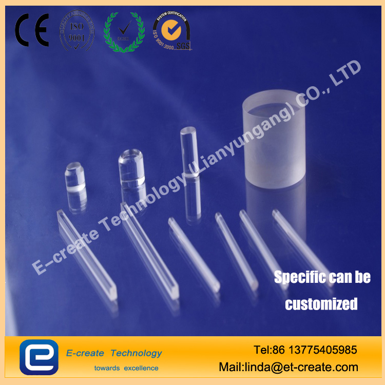 Sapphire glass rod (sapphire prism, sapphire window, optical element)