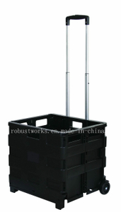 Plastic Folding Portable Shopping Cart (FC403K-2)