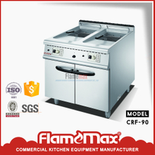 CRF-90 2-Tank 2-Basket Gas Fryer with Cabinet