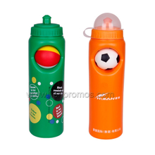 World Cup Football Game Souvenir OEM Plastic Sports Bottle with PU Ball