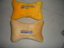 Telecom Insurance Logo Promotional Gift Plush Car Seat Head Rest