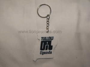Tullow Oil Logo Promotional Gift Custom Shape PVC Rubber Keychain