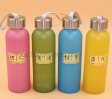 Fashion Popular Gift Glass Drinking Bottle with Neoprene Holder