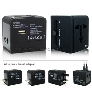 All in One Worldwide Universal Travel Adapter With USB Charger