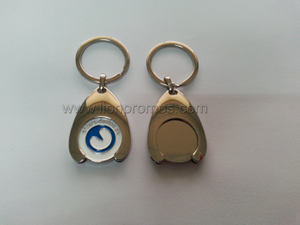 Custom Shae Zinc Alloy Metal Shopping Cart Token Key Chain