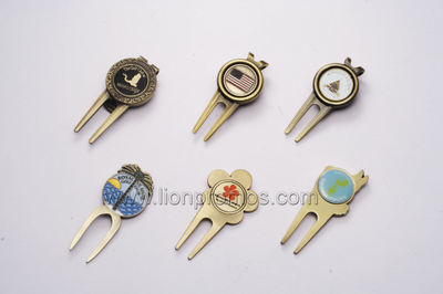 Brass Custom Logo Golf Divot Tools