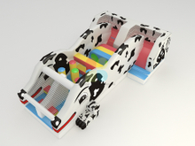 New Design Large Outdoor Inflatable Spotty Dog Theme Obstacle Course for Children