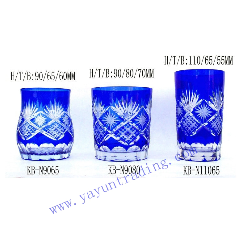 Yayun diffrent volume and shape glass tumbler