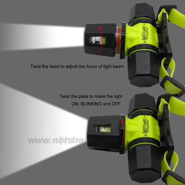 Powerful LED Diving Headlamp