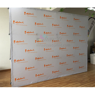 10FT Fabric POPup Banner Straight Tension Fabric Pop-up LOGO repeat Banner Display Stand