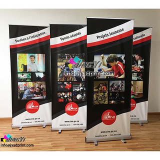 Quality Portable Retractable Aluminium Pull/POP/Roll up Exhibition/Fair/Tradeshow/Advertising/Promotion Display Banner Stand