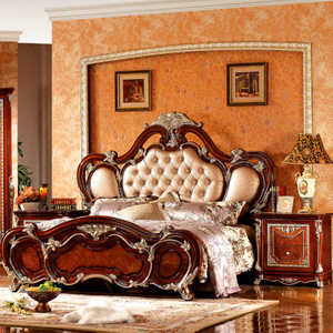 W815A Classic Bedroom Sets with Antique Bed