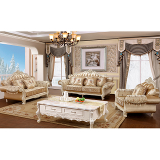 978 Wood Fabric Sofa Set