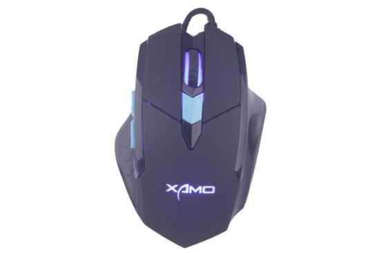 Computer Mouse/USB Wired Gaming Mice for PC Mouse Msg-X2 Gaming Mouse 6 Buttons 3200 Dpi Black