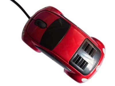 Car Shape Electronic Wired Mouse for Computer Gaming