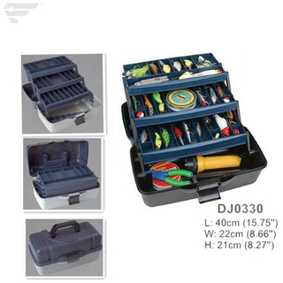DJ0330 Outdoor & Inner Using 3 Tray Fishing Tackle Box