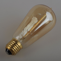 Glass Material and Bronze Color Edison Style Bulbs
