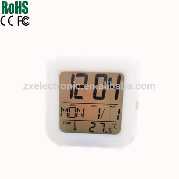 ABS plastic HEVOS promotional digital clocks