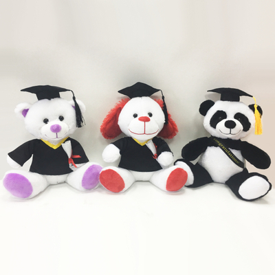 Stuffed Graduation Animal Teddy Bears Dog And Panda Plush