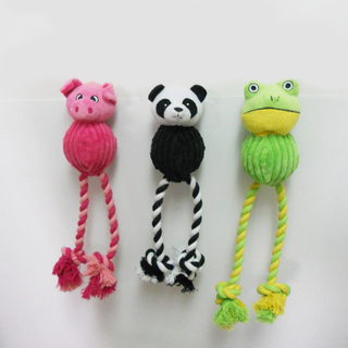 Plush Animal Shaped Dog Rope Toy