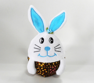 Fashion Easter Rabbit Shape Stuffed Super Soft Egg Toys