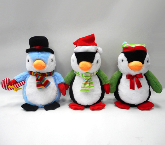 New Plush Cuddly Soft Penguin Plush Toys with Hat