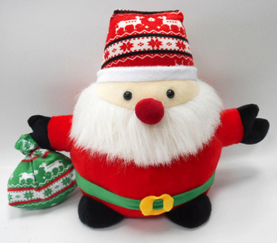 Red Color Christmas Plush Santa Claus Stuffed Dolls