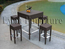 Bar Chair and Table Set (LN-065)