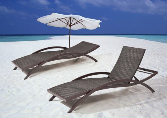 Outdoor Wicker/Rattan Furniture Chaise Lounge Set