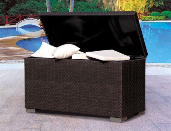 Outdoor Wicker/Rattan Cushion Box-2 for Pool