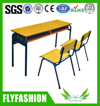 High school Double Student Desk and Chair School Furniture(SF-08D)