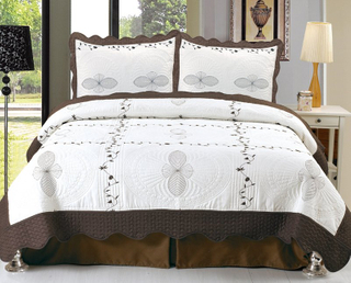 Embroidery bedspread set