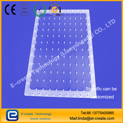 Quartz Channel Quartz Perforated Sheet Micropore Machining Slotted Quartz Slot Tray Duct Custom Quartz