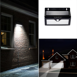 46 Solar Light Panel Lamp Sensor Waterproof Outdoor Garden Pathway Wall Light