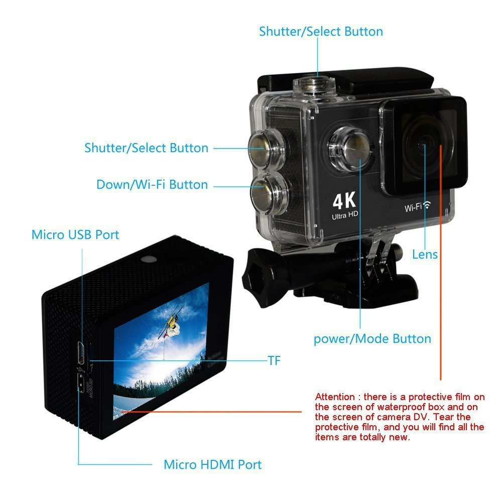 Mini Ultra HD 4K WiFi Action Sport DV Cam Camera