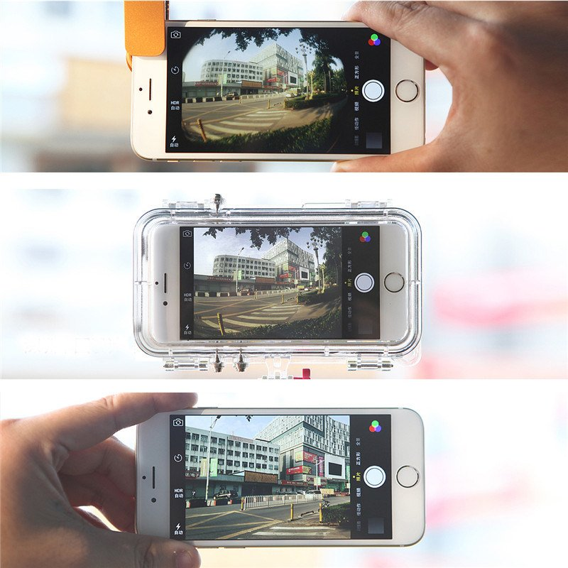 Wide Angle 170 Degree HD Lens Waterproof Cellphone Case for iPhone 6/6s