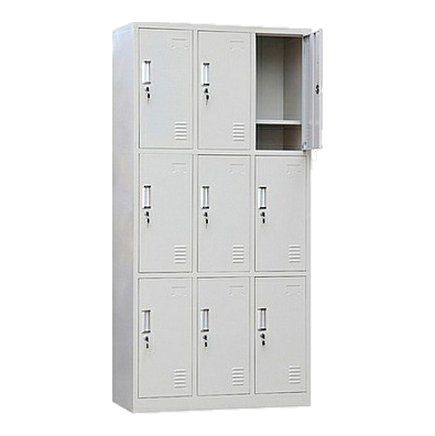 China metal locker grey