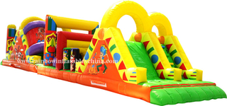 RB5014(12x6m) Inflatable Long Obstacle Course/ Inflatable Eygpt Theme Obstacle with Slide