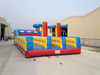 RB9009-1(10.7x4.6x2.1m)Inflatable 3 Line Bungee Lun&Basketball Bungee Run Game 2 In 1 Games